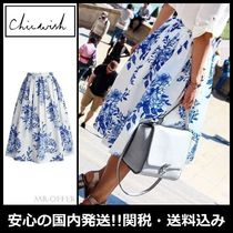 Chicwish Flower Patterns Casual Style Pleated Skirts Medium