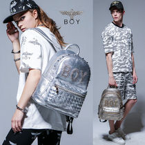 BOY LONDON Camouflage Street Style Other Animal Patterns Backpacks