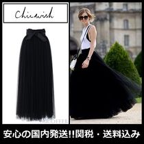 Chicwish Maxi Plain Long Elegant Style Maxi Skirts