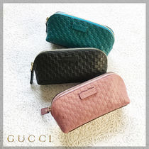 GUCCI Monogram Leather Pouches & Cosmetic Bags