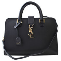 Saint Laurent 2WAY Plain Leather Elegant Style Handbags