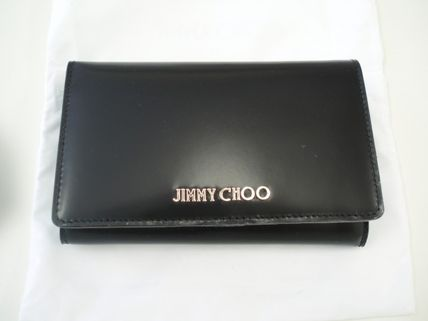 Jimmy Choo bifold wallet MARLIE SBK color:BLACK-black