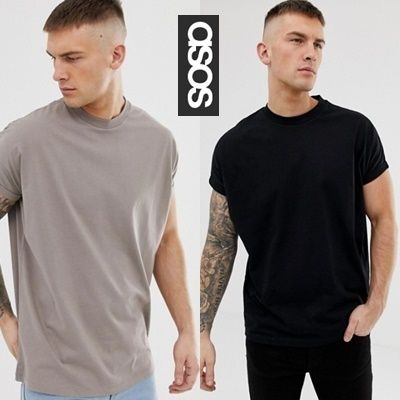 ASOS Vests & Gillets Crew Neck Pullovers Sleeveless Cotton Oversized