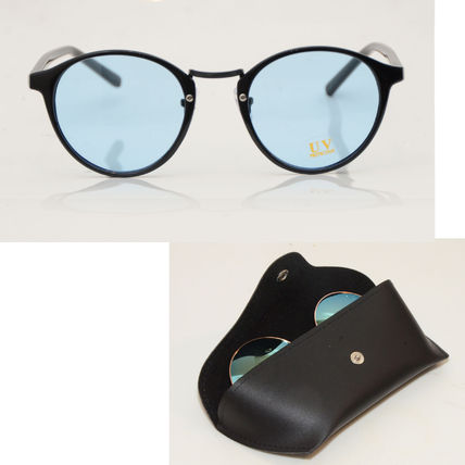 Boston with case UV sunglasses smoke blue Date glasses