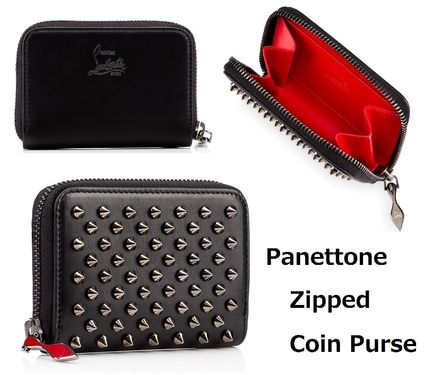 Christian Louboutin Panettone  Studded Leather Coin Cases