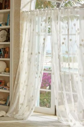 Elegant and sweet Shabby Chic Dominique Sheer Panel curtains