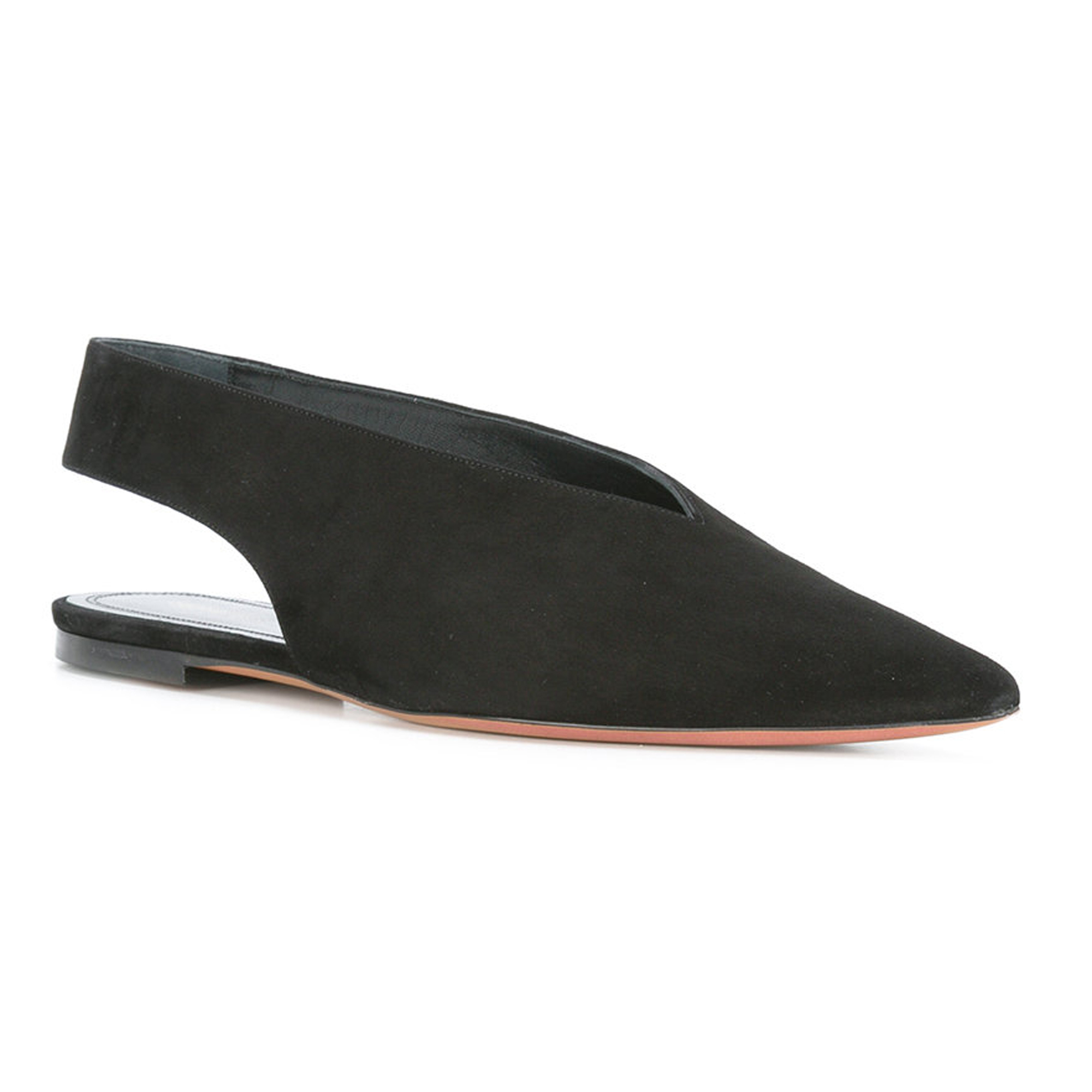 CELINE More Flats CELINE and cutout back flat shoes and black 2