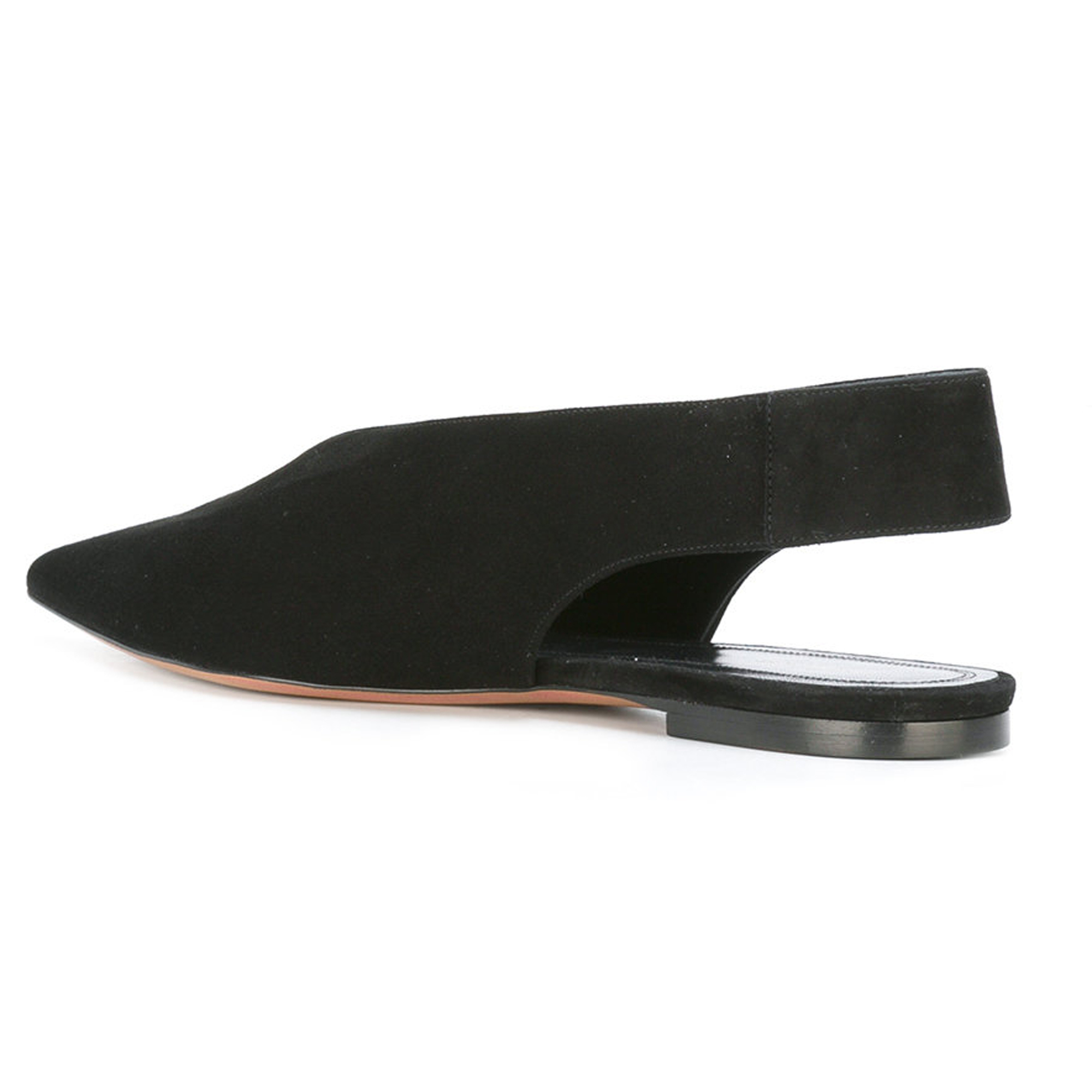 CELINE More Flats CELINE and cutout back flat shoes and black 3