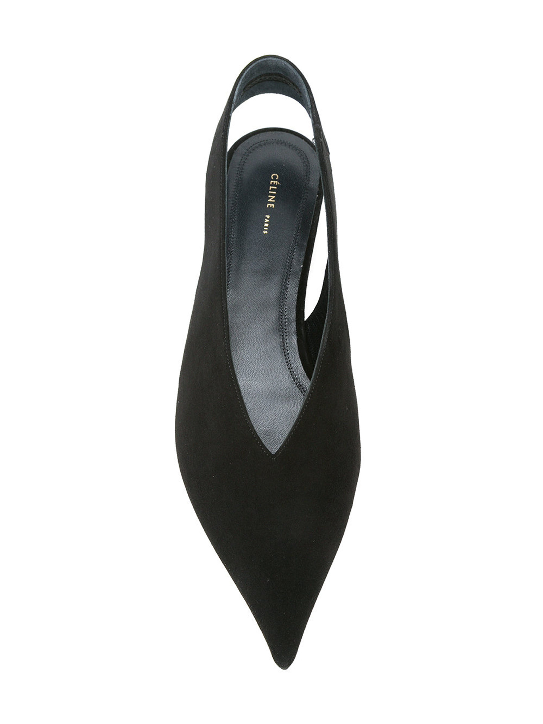 CELINE More Flats CELINE and cutout back flat shoes and black 4