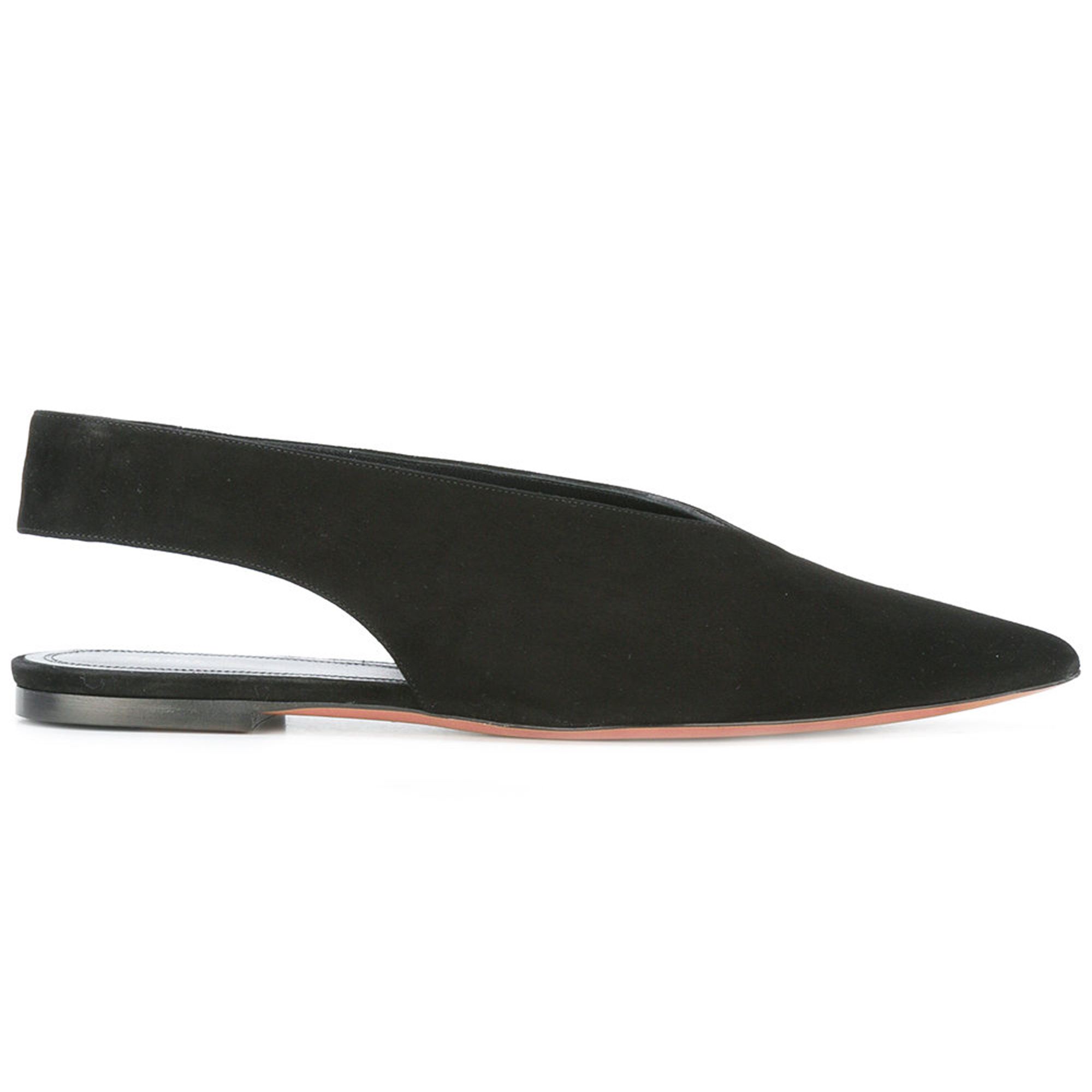 CELINE More Flats CELINE and cutout back flat shoes and black 5