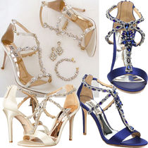 Badgley Mischka Plain Party Style With Jewels High Heel Pumps & Mules