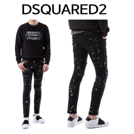 D SQUARED2 Plain Cotton Jeans & Denim