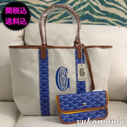 GOYARD reversible logo print St. Louis PM blue