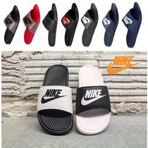 Nike BENASSI Faux Fur Plain Shower Shoes Shower Sandals