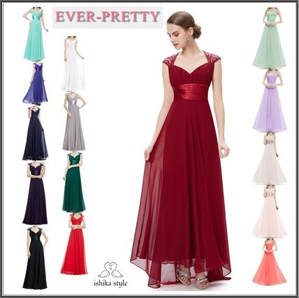 Ever-Pretty Maxi Chiffon Plain Long With Jewels Party Dresses