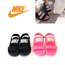 Nike TANJUN Casual Style Plain Sport Sandals PVC Clothing Flat Sandals
