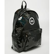Hype Casual Style Faux Fur Street Style A4 Plain Backpacks