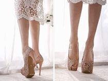 Open Toe Street Style Pin Heels Party Style Party Shoes