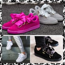 PUMA Casual Style Suede Street Style Plain Low-Top Sneakers