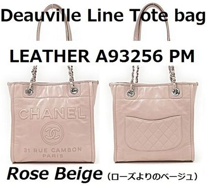 CHANEL Totes Casual Style Leather Totes 2