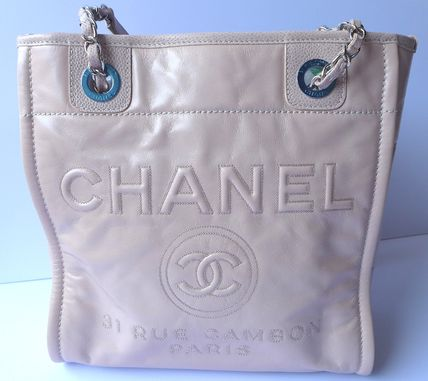 CHANEL Totes Casual Style Leather Totes 3