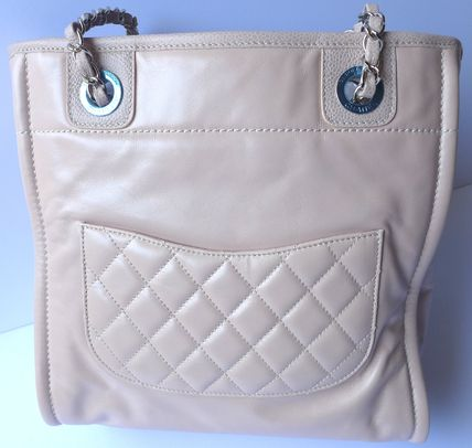 CHANEL Totes Casual Style Leather Totes 7