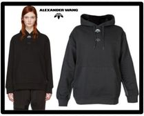 Alexander Wang Casual Style Unisex Collaboration Long Sleeves Plain Cotton