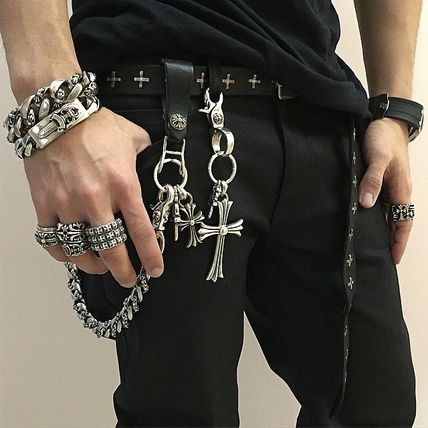 CHROME HEARTS Unisex Street Style Leather Watches & Jewelry