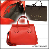 GUCCI Leather Elegant Style Handbags