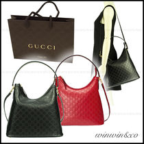 GUCCI A4 2WAY Leather Elegant Style Handbags