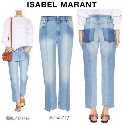 Isabel Marant Clancy stepped hem denim