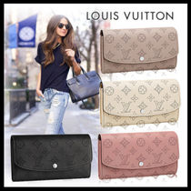 Louis Vuitton MAHINA Monogram Faux Fur Long Wallets