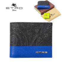 ETRO Paisley Faux Fur Folding Wallets