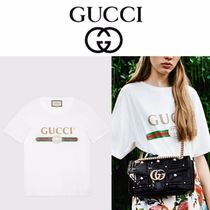 GUCCI Unisex Cotton Short Sleeves T-Shirts