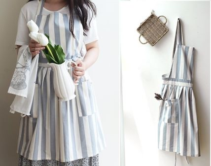 Pleated apron-cute pleated rich-stripes