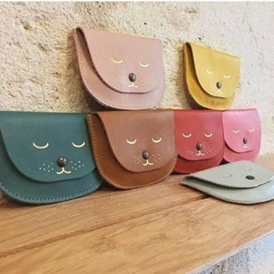 Plain Other Animal Patterns Leather Coin Purses