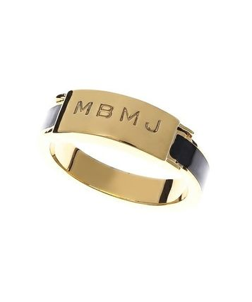 Mark BY logo Engraved do ring