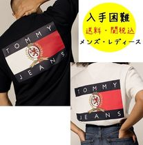 Tommy Hilfiger Crew Neck Street Style Plain Cotton Short Sleeves T-Shirts