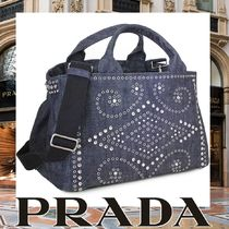 PRADA CANAPA Studded Mothers Bags