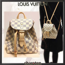 Louis Vuitton DAMIER AZUR Other Check Patterns Casual Style Canvas Blended Fabrics