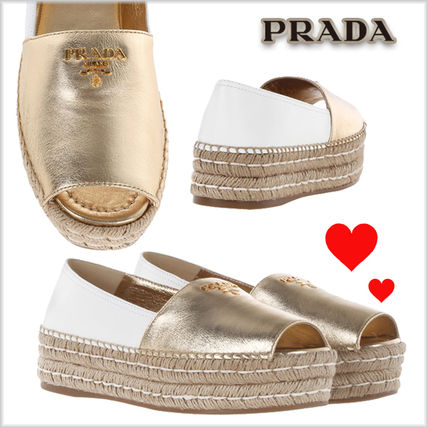 17SS Bicolor Leather Thick Bottom Espadrilles