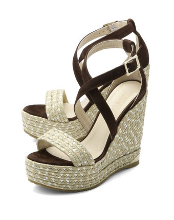 Wedge sandals with strap Brown PORTIA