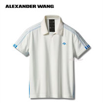 Alexander Wang Street Style Collaboration Plain Cotton Short Sleeves Polos