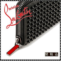 Christian Louboutin Panettone  Studded Plain Leather Long Wallets