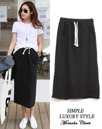 Midi sweat skirt for daily