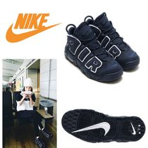 Nike AIR MORE UPTEMPO Casual Style Faux Fur Street Style Plain Low-Top Sneakers