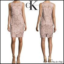 Calvin Klein Tight Sleeveless Medium Lace Party Dresses