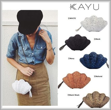 KAYU JANE straw clutch bag all