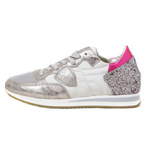 PHILIPPE MODEL PARIS Casual Style Plain Leather Low-Top Sneakers
