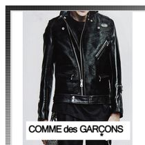 COMME des GARCONS Plain Leather Biker Jackets